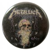 Metallica - 'One Black' Button Badge